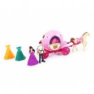 sada kočár s koněm a princezna s odnímatelnými šaty