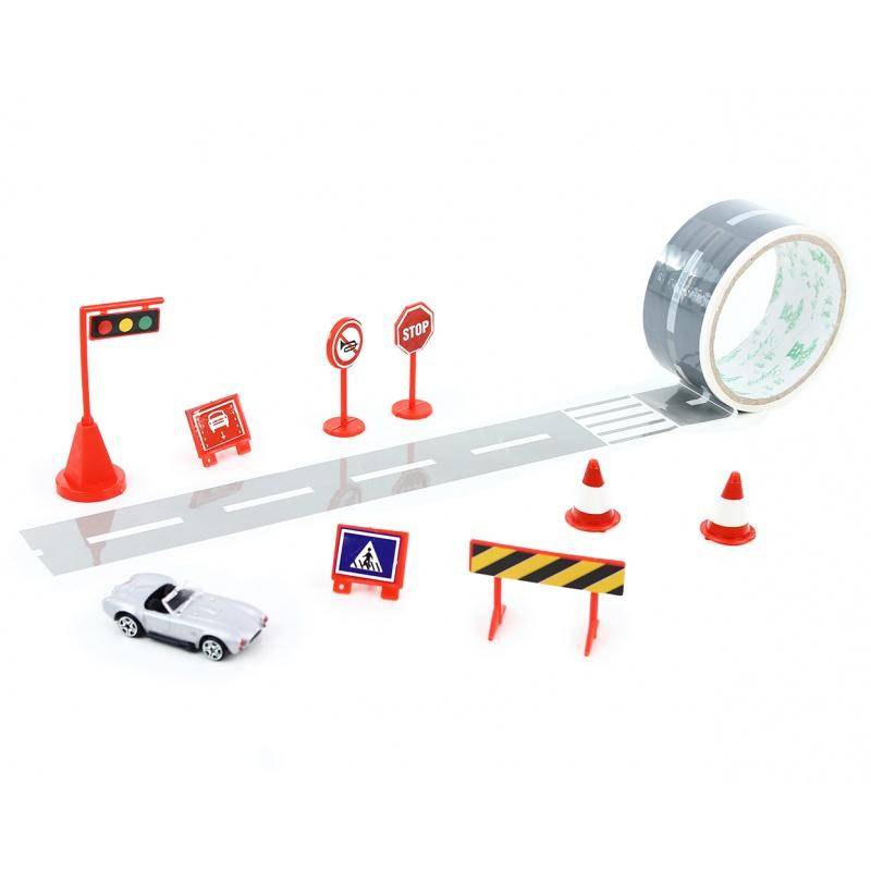 páska lepicí cesta s autem