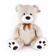 veľký plyšový medveď Miki sediaci 65 cm béžový - mohutná veľkosť
