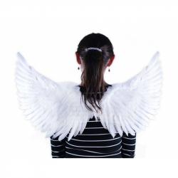 Andělská křídla bílá třpytivá