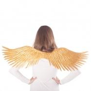 křídla andělská zlatá