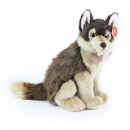 plyšový vlk sedící, 28 cm