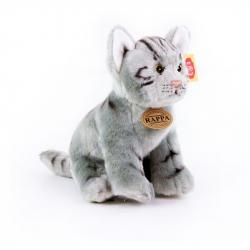 pluszowy szary kot siedzący, 24 cm