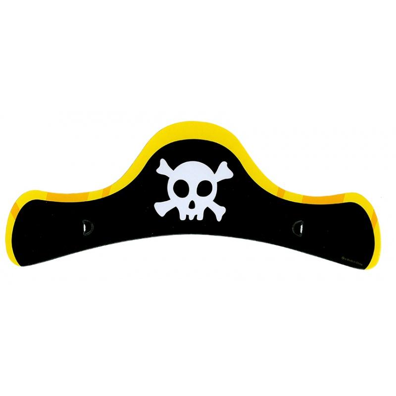 Čepice papírová pirátská, dětská, 6 ks v balení