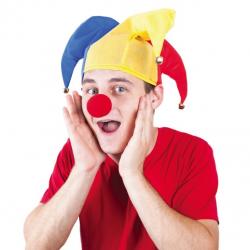 čiapky a nos klauna