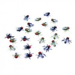 dekorácie halloween muchy v sáčku