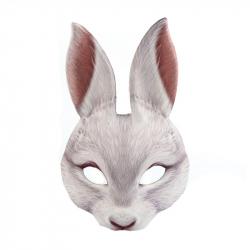 maska bílý zajíc