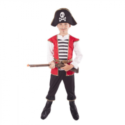 kostým pirát s klobúkom veľ. L