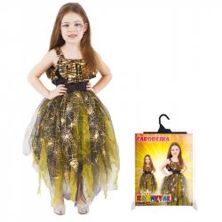 Karnevalový kostým čarodejnice / halloween zlatá vel. S