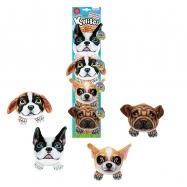 kulíšci - plyšoví psi, 9 cm, 4 druhy na kartě