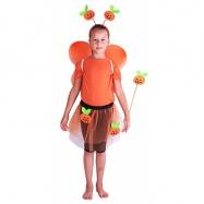 Karnevalový kostým dýně s křídly, 4 ks