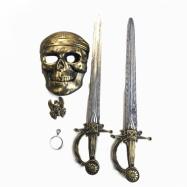 sada pirátská, maska, 2 meče