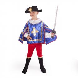 kostým mušketier modrý vel. M