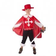 kostým mušketýr červený vel. S