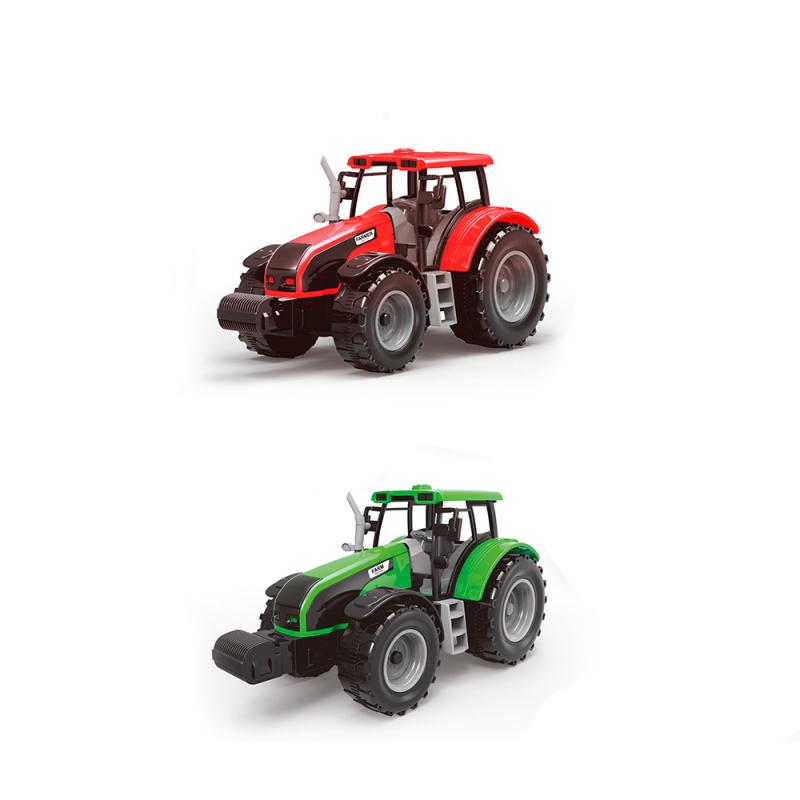 Farmářský traktor se dvěma přívěsy