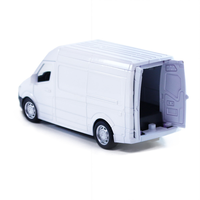 Kovové auto dodávka bílá, 14,5 cm
