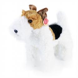 pluszowy pies foksterier Dášenka stojący, 30 cm