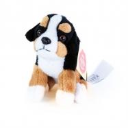 plyšová kľúčenka / prívesok pes bernský salašnícky sediaci, 9 cm