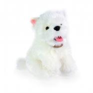 plyšový pes westík sedící, 23 cm