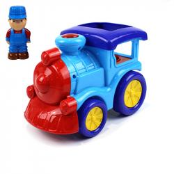 Lokomotiva s panáčkem, zvuk, světlo