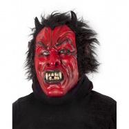 maska čert/ďábel s vlasy