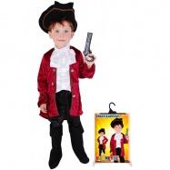 karnevalový kostým kapitán Hook, vel. M