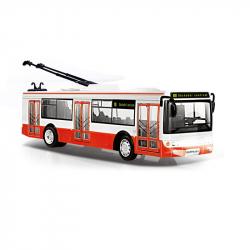Trolejbus, který hlásí zastávky česky, 28 cm