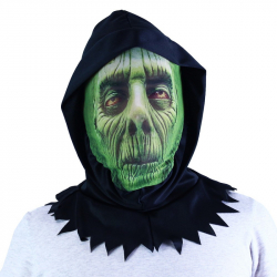 Maska zelená textilná