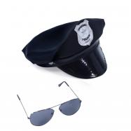 Sada policejní, čepice s brýlemi