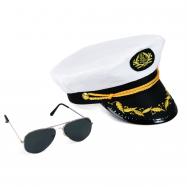 Sada kapitán, čepice s brýlemi