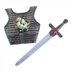Rytířský meč se zvukem a štítem