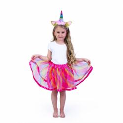 Detský kostým tutu sukne s čelenkou jednorožec