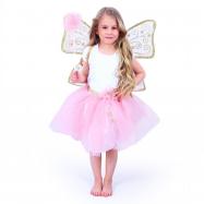 Detský kostým tutu sukne s krídlami