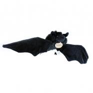 plyšový netopýr černý, 16 cm