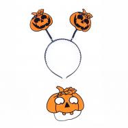 čelenka halloween s maskou pro dospělé