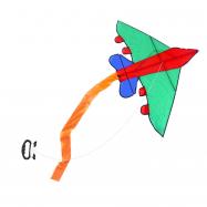 drak létající letadlo nylonový 140x98 cm