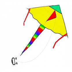 drak lietajúci nylonový 120 x 70 cm