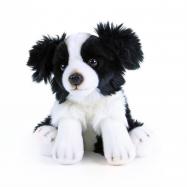 Plyšový pes Border kolie sedící, 28 cm