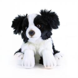 Pluszowy piesek Border Collie siedzący, 28 cm