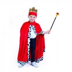 Detský kostým kráľovský plášť