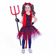 Detský kostým čertica s chvostom (M)