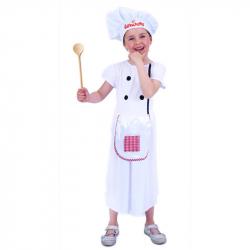 Detský kostým kuchárka (M)