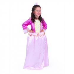 Dětský kostým růžová princezna sametová (M)