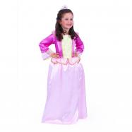 Dětský kostým růžová princezna sametová (S)