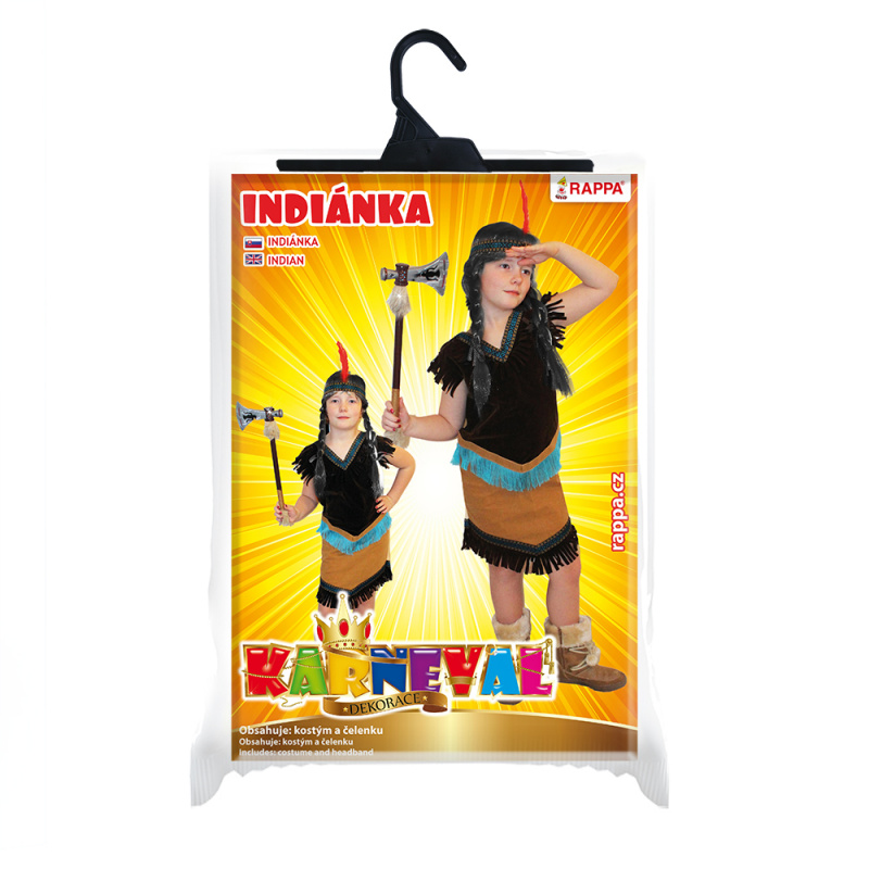 Dětský kostým indiánka (M)