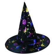klobouk čarodějnický s potiskem, dospělý