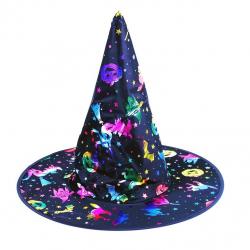 klobúk čarodejnícky s potlačou, dospelý