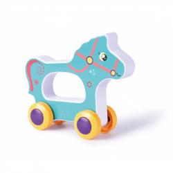 Hračka pro nejmenší na kolečkách kůň