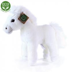 Plyšový kůň bílý stojící, 25 cm, ECO-FRIENDLY