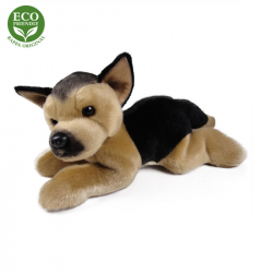 Plyšový pes německý ovčák ležící, 30 cm, ECO-FRIENDLY